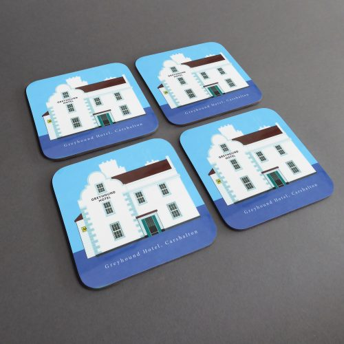 four matching coasters
