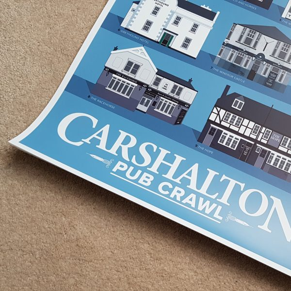 Carshalton pub poster close-up