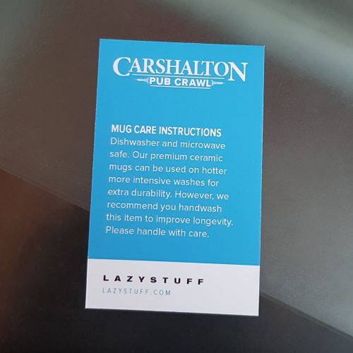 Carshalton mug care instructions