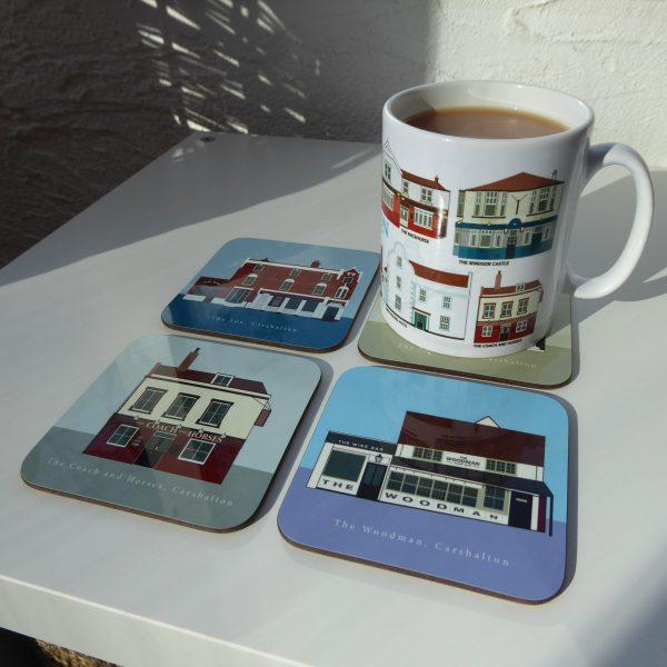 Coasters with mug