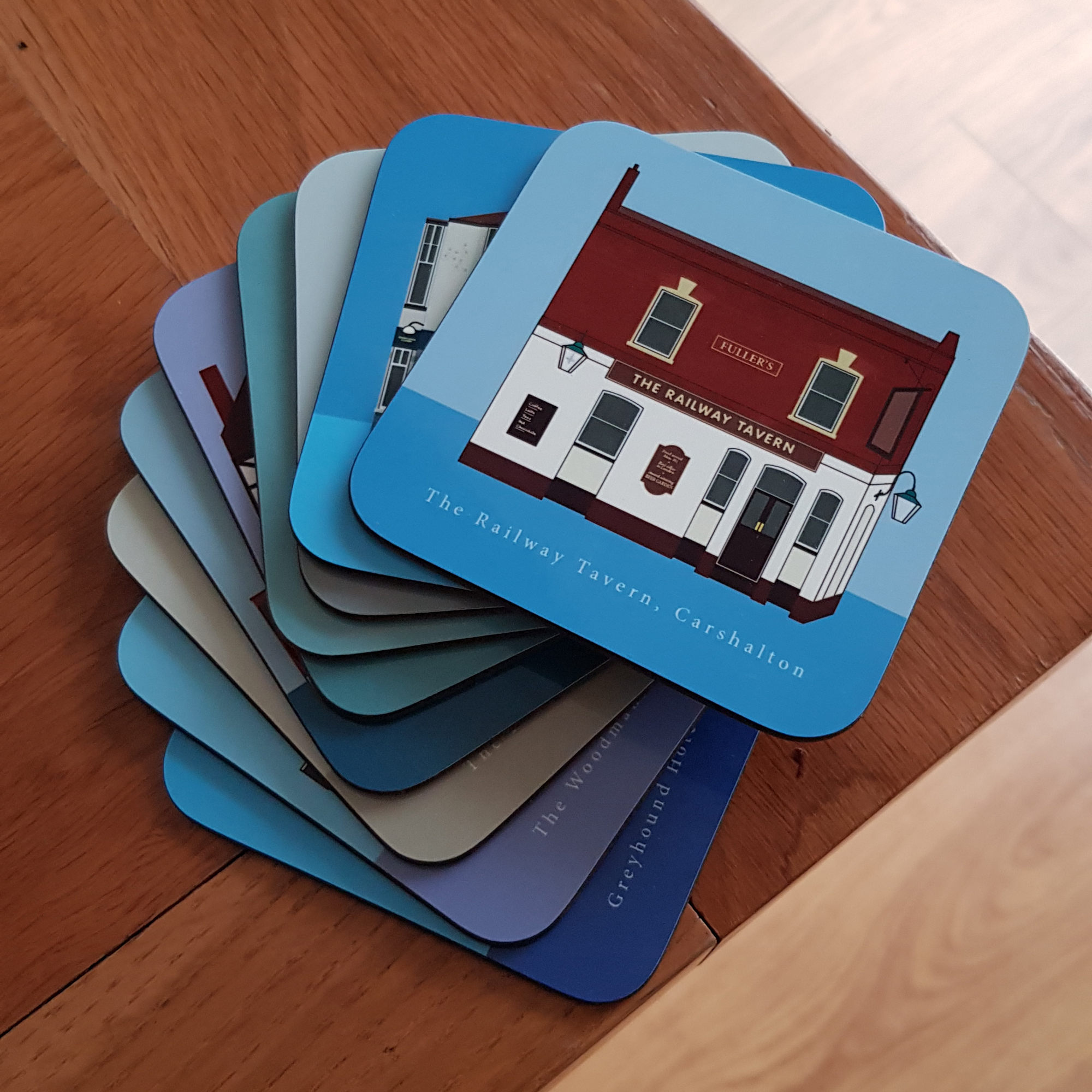 Pub coasters in a pile