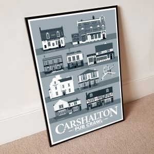 A2 Pub Crawl Poster Cool Grey