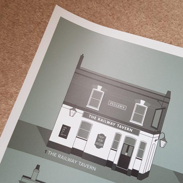 Carshalton Pub Crawl Posters 2019 Green