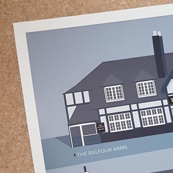 Unframed Sidmouth Pub Print