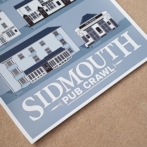 Unframed Sidmouth Pub Crawl Print