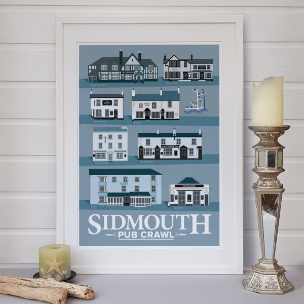 Sidmouth Pub Crawl poster with candle
