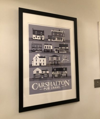 Carshalton Pub Print Cool Grey photo review