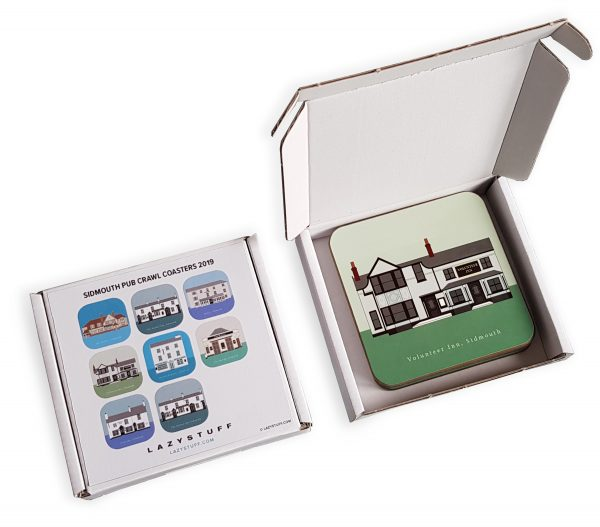 Sidmouth Pub Coasters Box