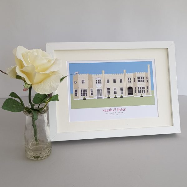 Nonsuch Palace With Flourish Text