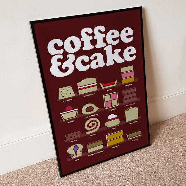 Coffee & Cake Brown Poster