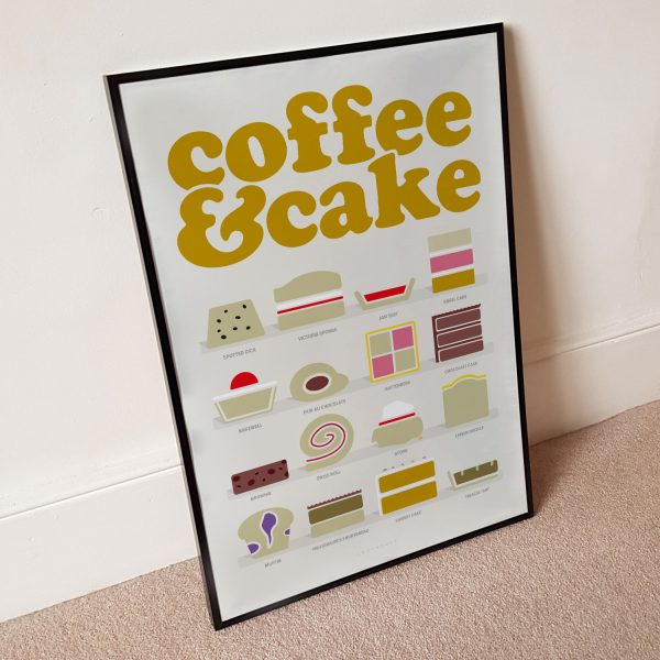 Coffee & Cake Beige Poster