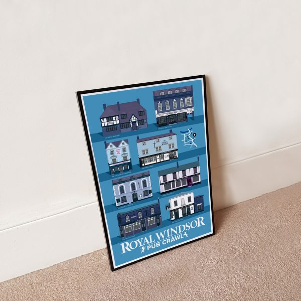 A3 Framed Windsor Pub Poster