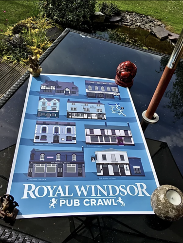 Windsor Pub Print Blue photo review