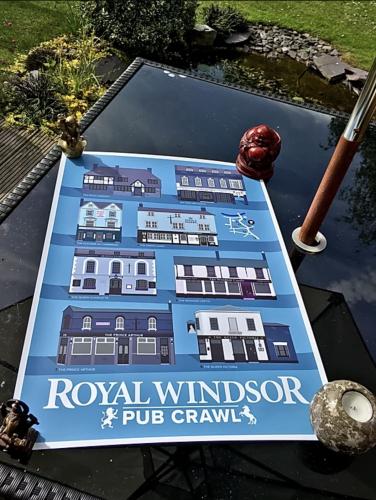 Windsor Pub Print Blue photo review