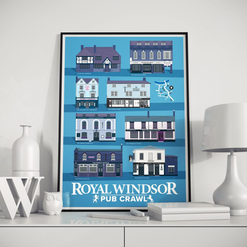 Windsor Berkshire UK Pub Poster
