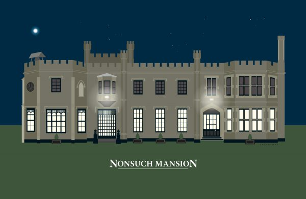 Nonsuch Mansion Night Green