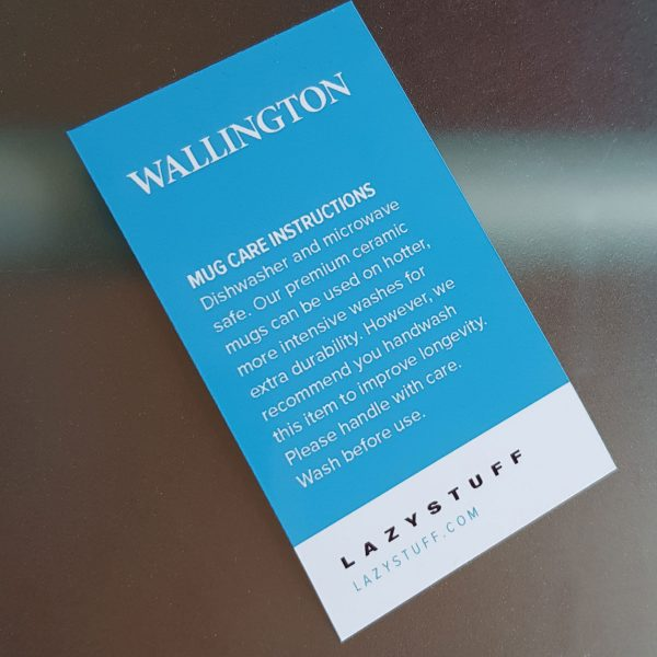 Wallington Mug Care Label