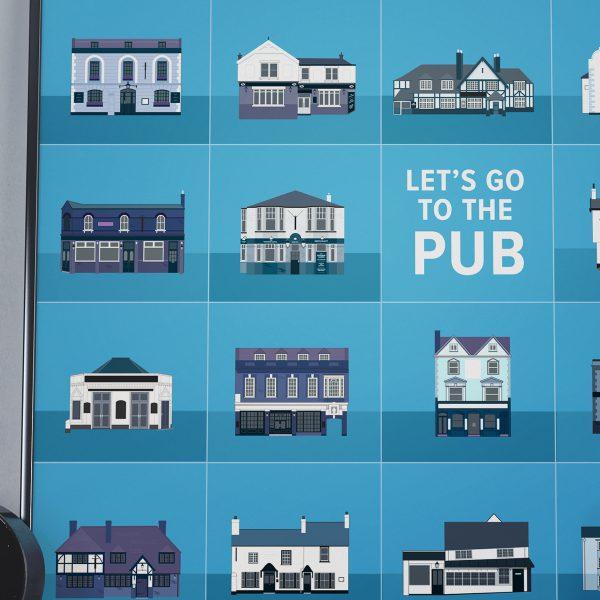 Pub poster detail
