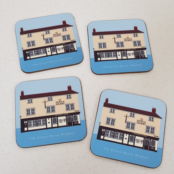 The Prince Harry Pub Matching Coasters