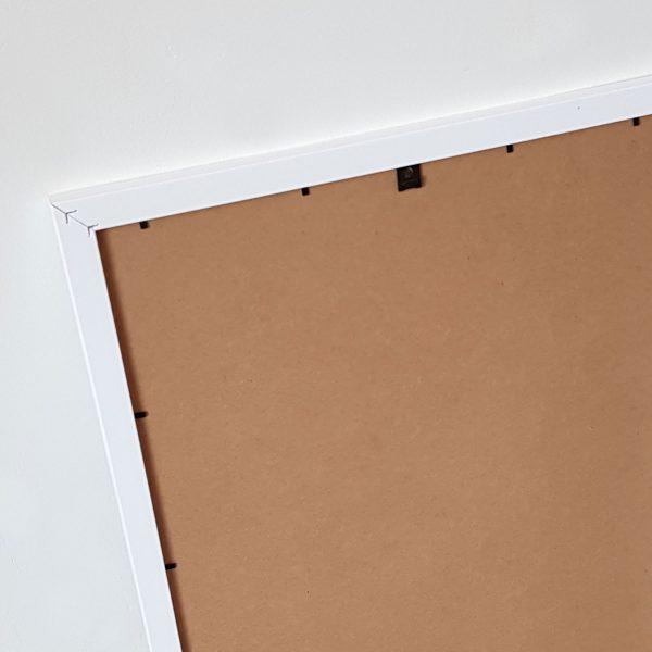 Back of white frame