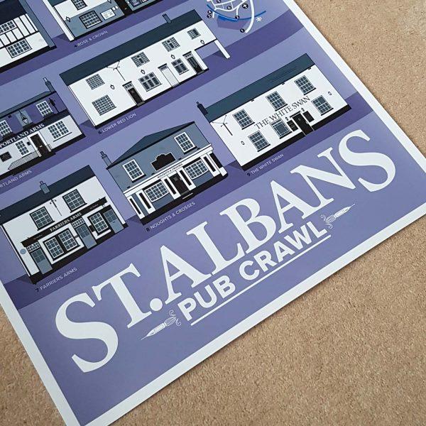 St.Albans Pub Crawl Print