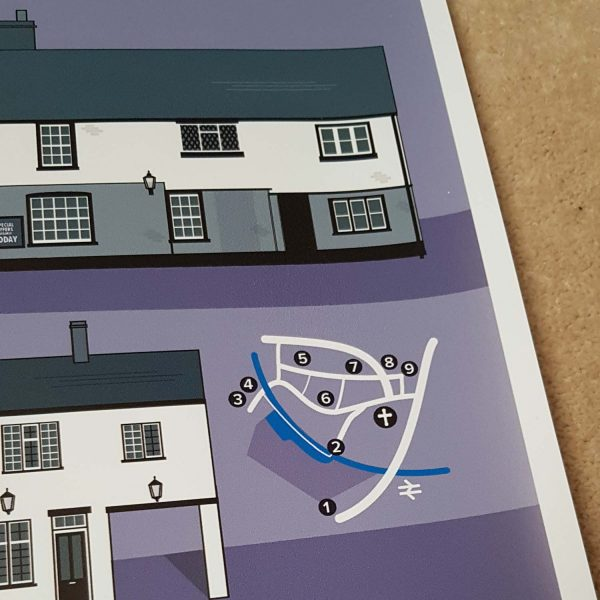 St.Albans Pub Crawl Map detail