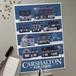 Limited Edition Carshalton Pub Poster Winter A4