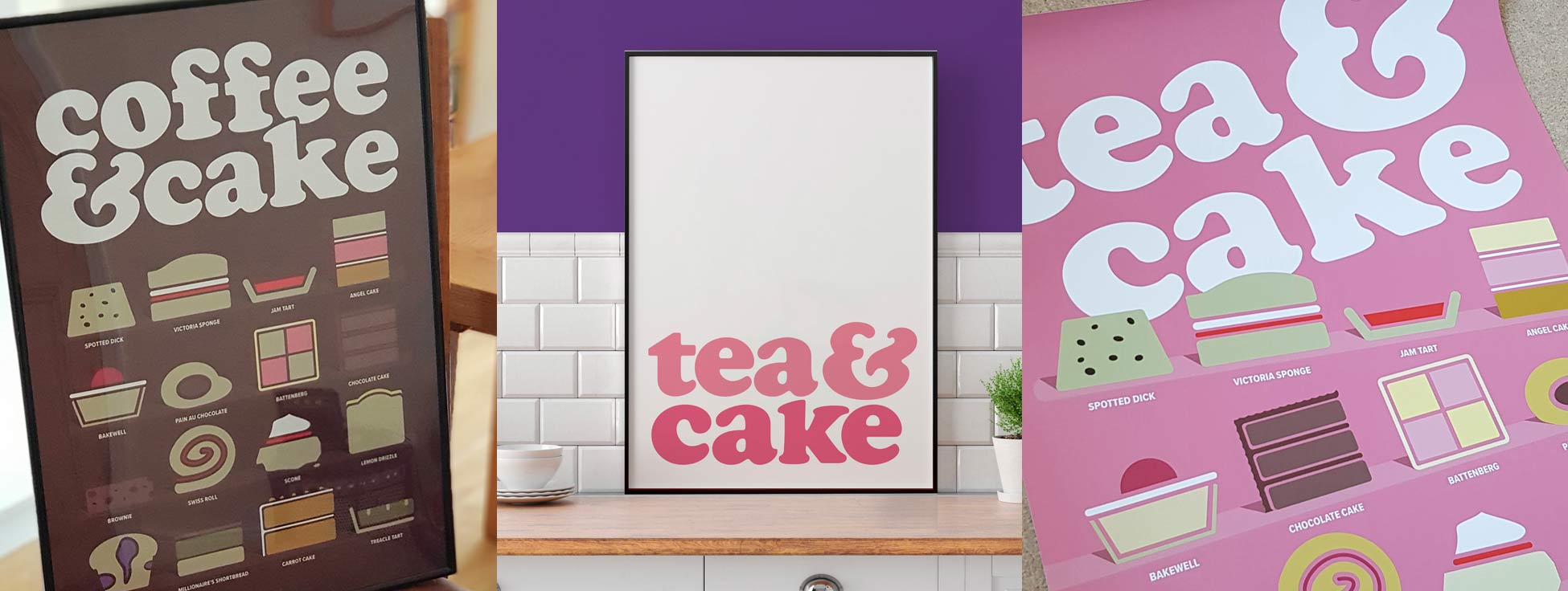 Tea Coffee and Cake posters