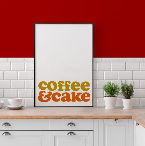 Coffee & Cake Typographic Print