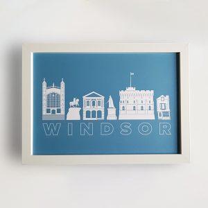 Windsor Landmarks A4 poster