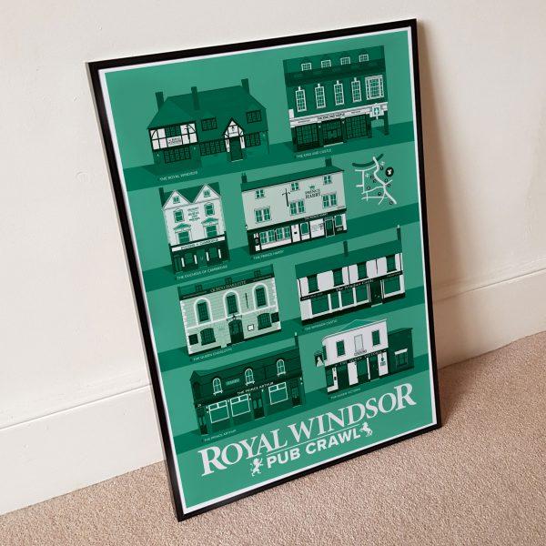 Jade Green Windsor Pub Poster