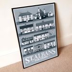 St Albans Pub Crawl Poster in Cool Grey 2020