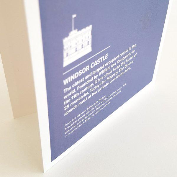 Back of Windsor Castle Greeting Card in Windsor UK