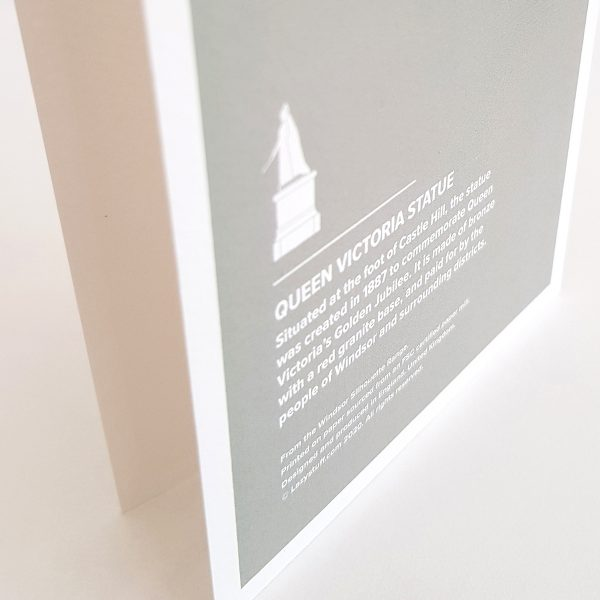 Back of Queen Victoria Statue Greeting Card in Windsor UK