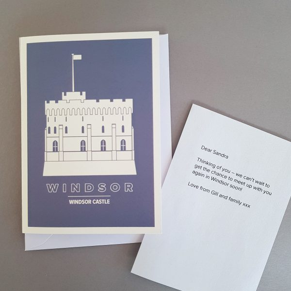 Personalised Windsor Greeting Cards own message and note