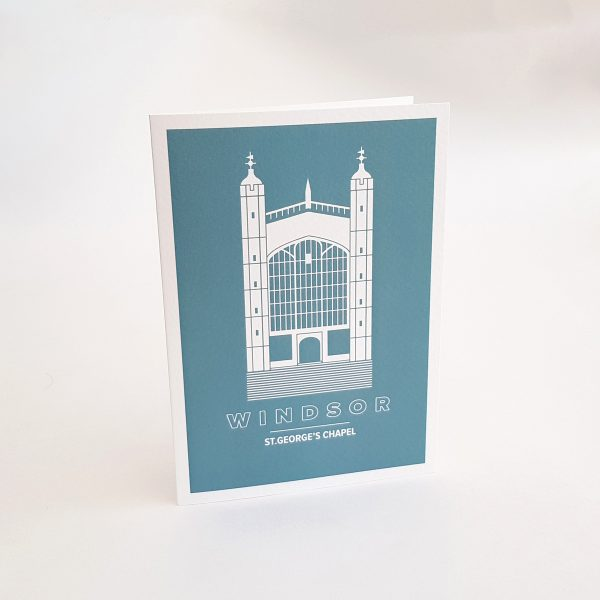 St.George's Chapel Greeting Card in Windsor UK
