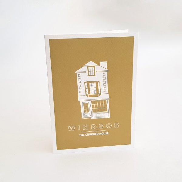The Crooked House Greeting Card in Windsor UK