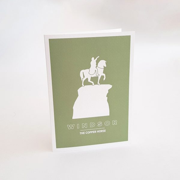 The Copper Horse Statue Greeting Card in Windsor UK
