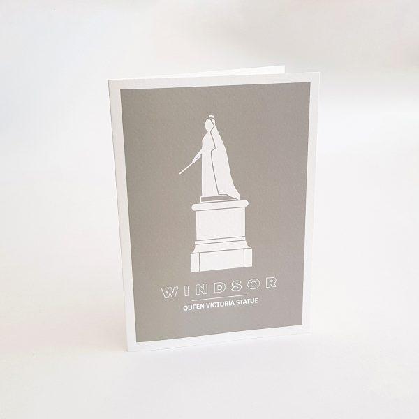Queen Victoria Statue Greeting Card in Windsor UK