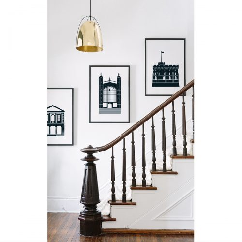 Iconic Windsor illustrations on the wall