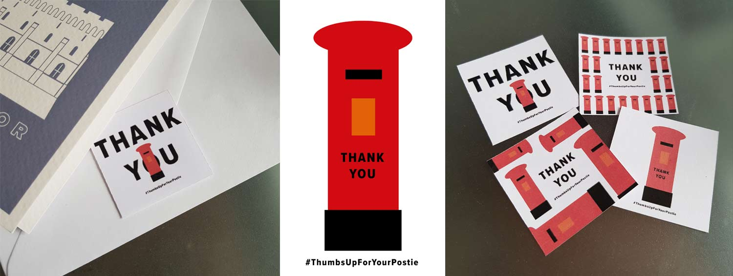 Free Thank your postman stickers