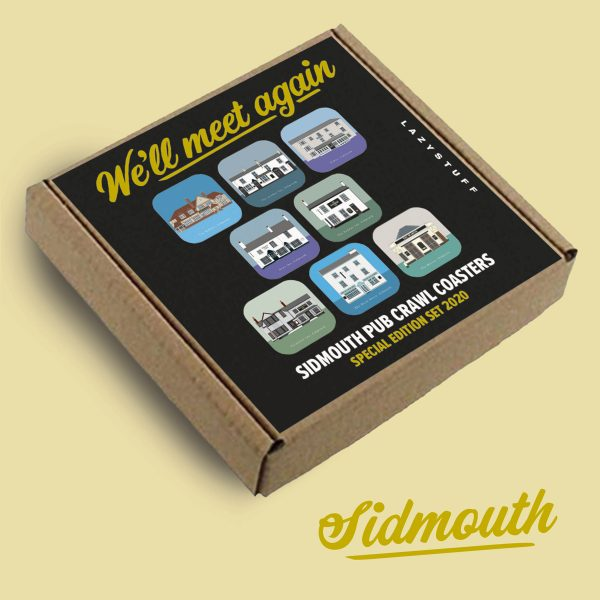 Sidmouth We'll meet again special edition coasters