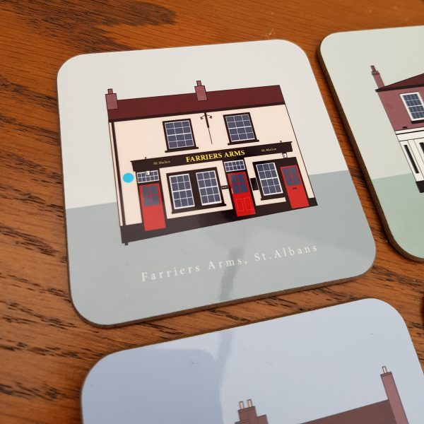 St Albans Pub Coaster Farriers Arms