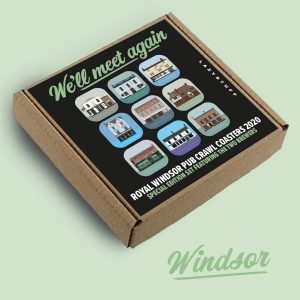 Windsor We'll meet again special edition pub crawl coasters