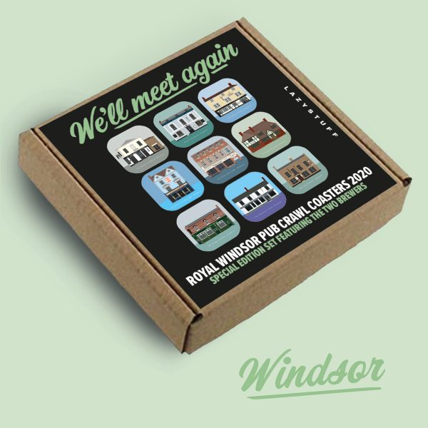 Windsor We'll meet again special edition pub crawl coasters