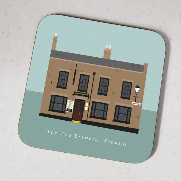 The Two Brewers Pub Windsor Pub Crawl Coasters 2020