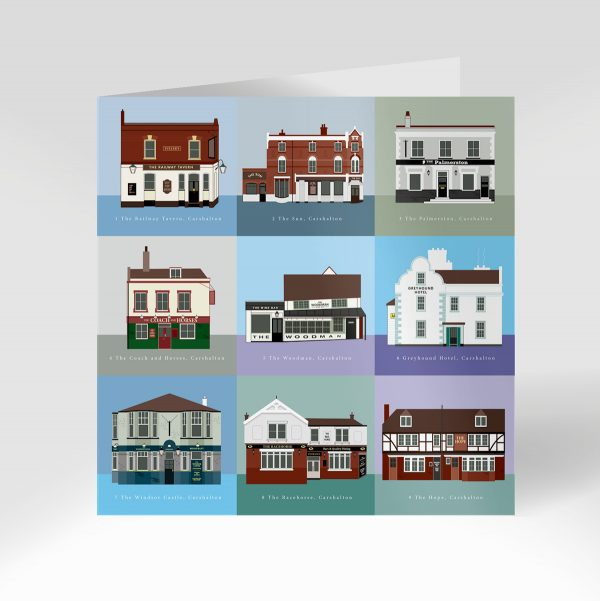 Carshalton Pub Crawl Greeting Card Front