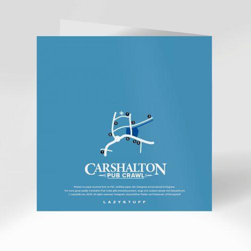 Carshalton Pub Crawl Greeting Card Reverse