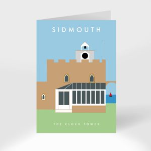 The Clock Tower Restaurant Sidmouth Greeting Card