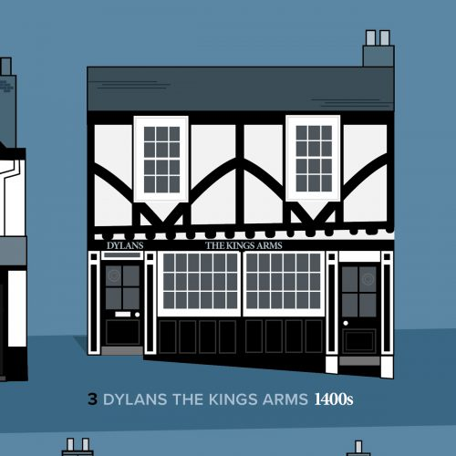Dylans Kings Arms St Albans illustration